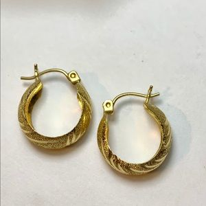 Real 10k Gold Earrings Women's Girls